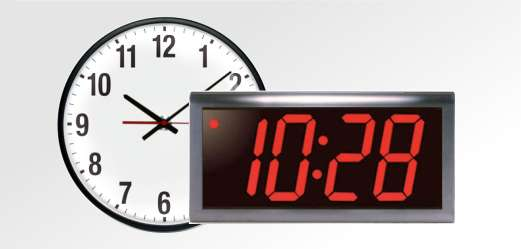 Analog and Digital Slave Clocks Provide an Accurate Time Display