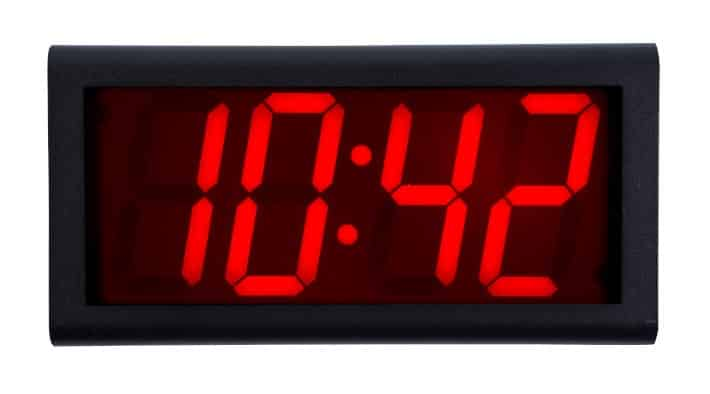 4-Digit NTP-Synchronized Wall Clock with PoE
