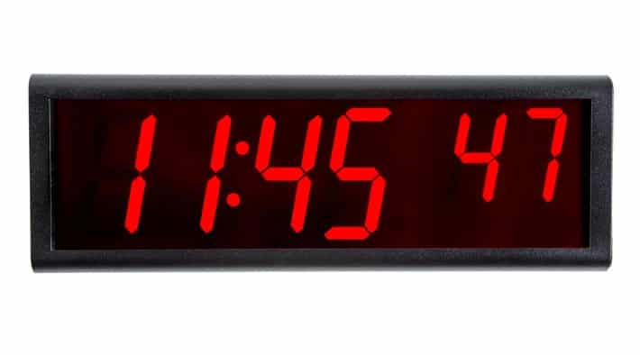 6-Digit NTP Network Clock with Power-Over-Ethenet (PoE)