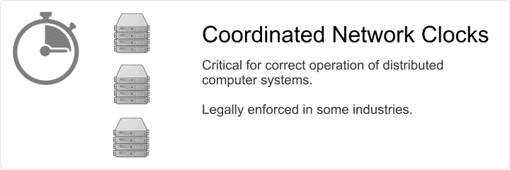 Coordinated clocks of network computers is critical and sometimes legally enforced.