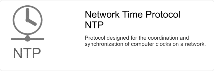 Network Time Protocol (NTP) provides network computer clock synchronization.