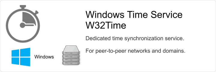 Windows Time Service - w32time - dedicated Windows time service for peered networks or domains.